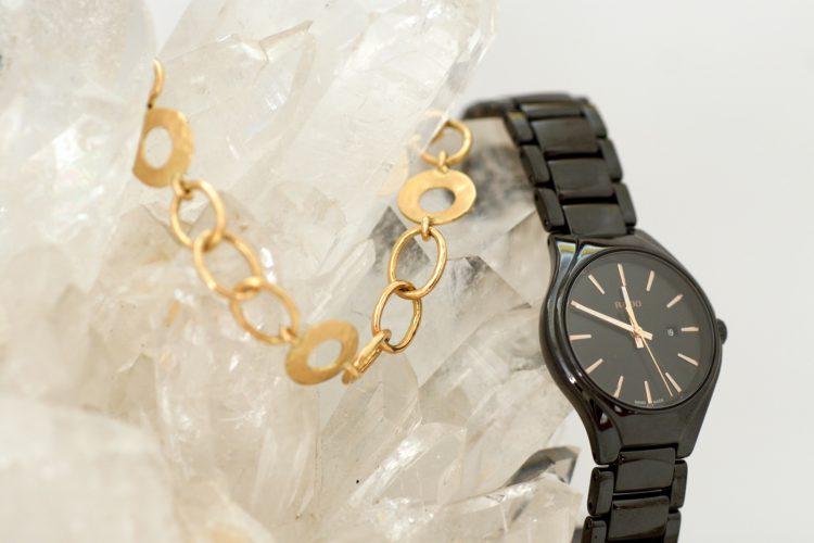 Reloj para caballero y pulsera para señora